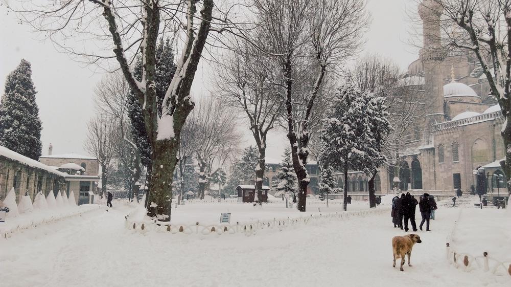 Stambuł pod śniegiem